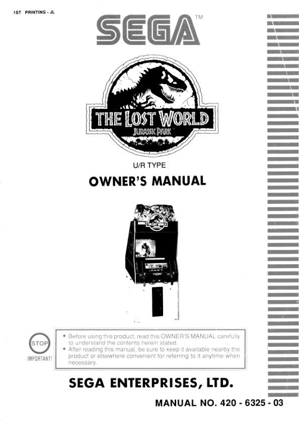 The Lost World - Arcade - Manual - gamesdatabase.org