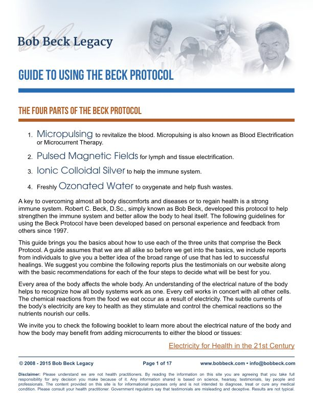 Guide to Using the Beck Protocol