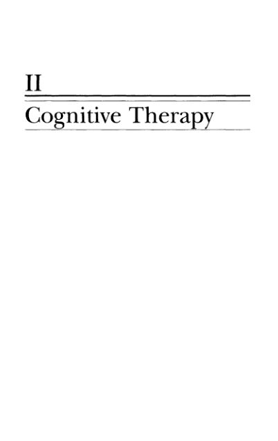 Part II: Cognitive Therapy   Page 7