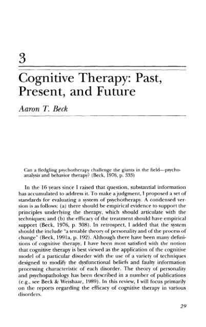 3 Cognitive Therapy: Past, Present, and Future   Page 8