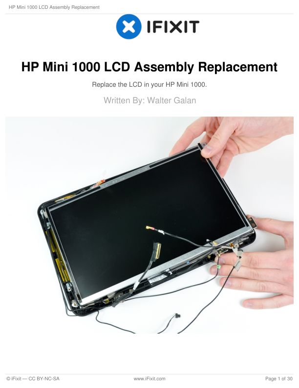 HP Mini 1000 LCD Assembly Replacement