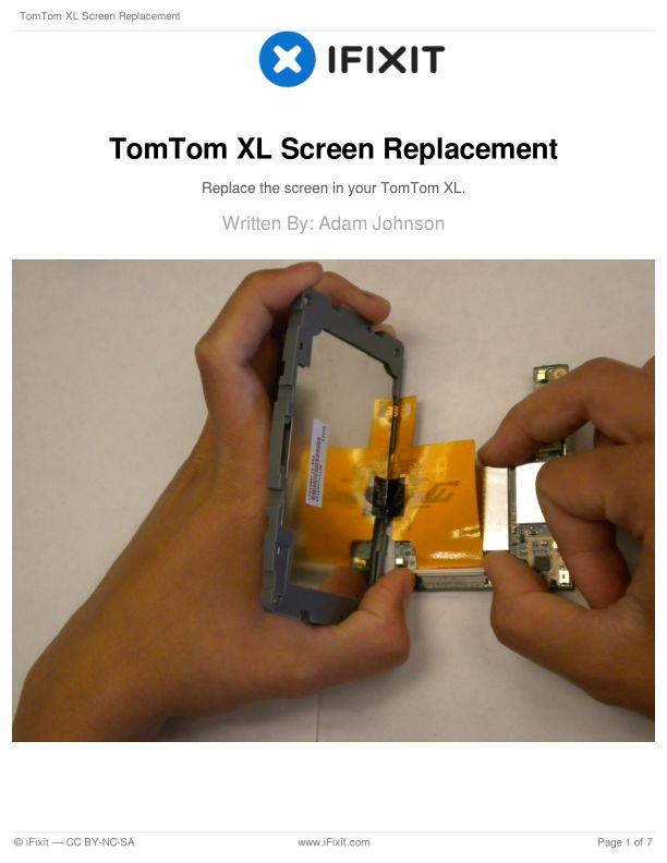 TomTom XL Screen Replacement