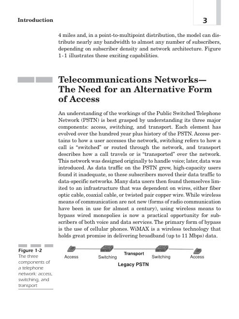 Telecommunications Networks — The Need for an Alternative Form of Access | Page 4