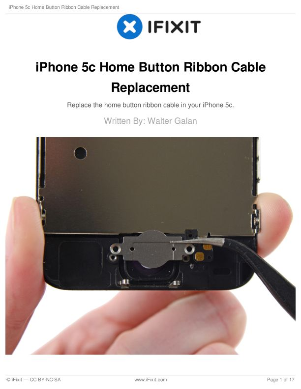 iPhone 5c Home Button Ribbon Cable Replacement