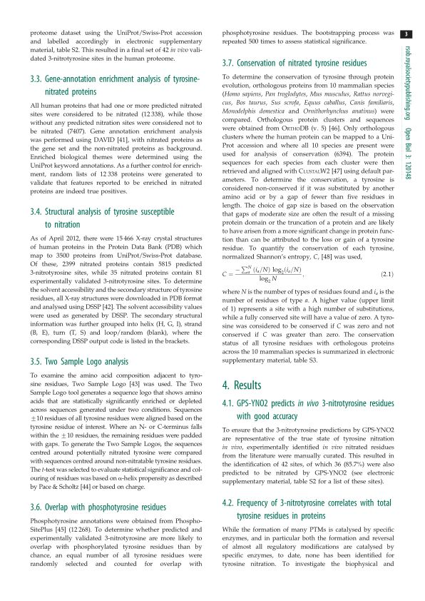 Gene-annotation enrichment analysis of tyrosine-nitrated proteins | Page 3