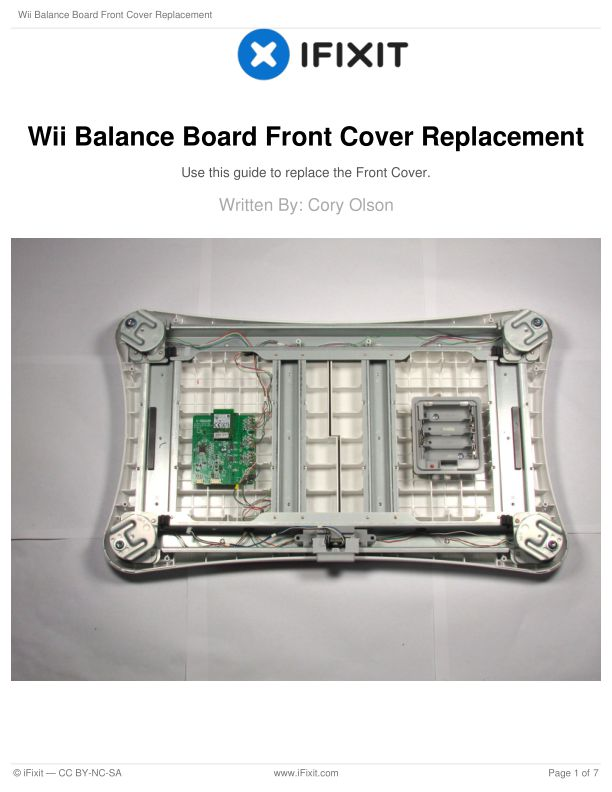 Wii Balance Board Front Cover Replacement