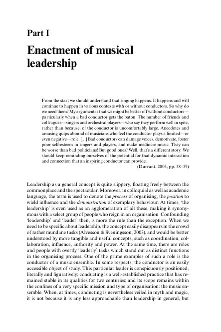 Part I: Enactment of musical leadership | Page 9