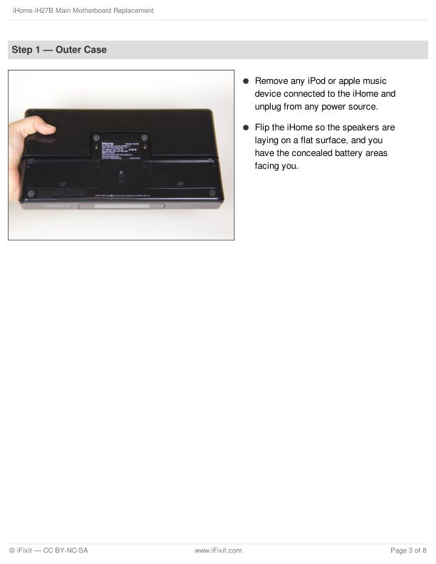 Step 1 — Outer Case   Page 1