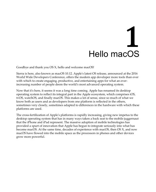 Chapter 1: Hello macOS | Page 9