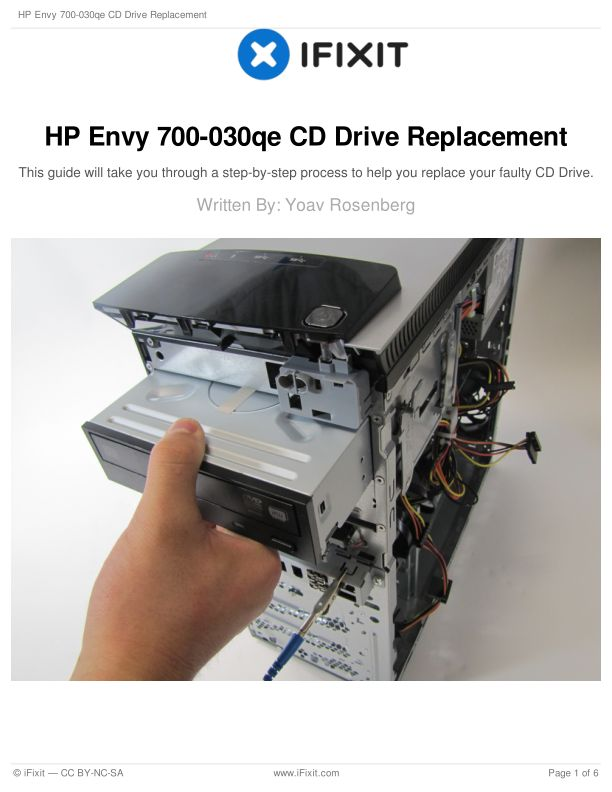 HP Envy 700-030qe CD Drive Replacement