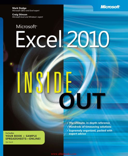 Microsoft Excel 2010 Inside Out eBook