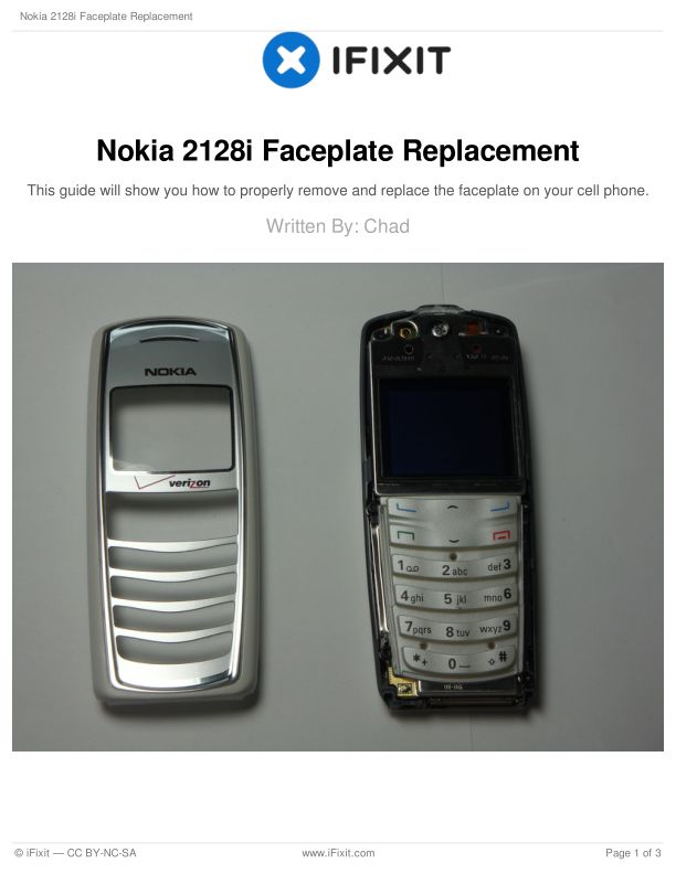 Nokia 2128i Faceplate Replacement