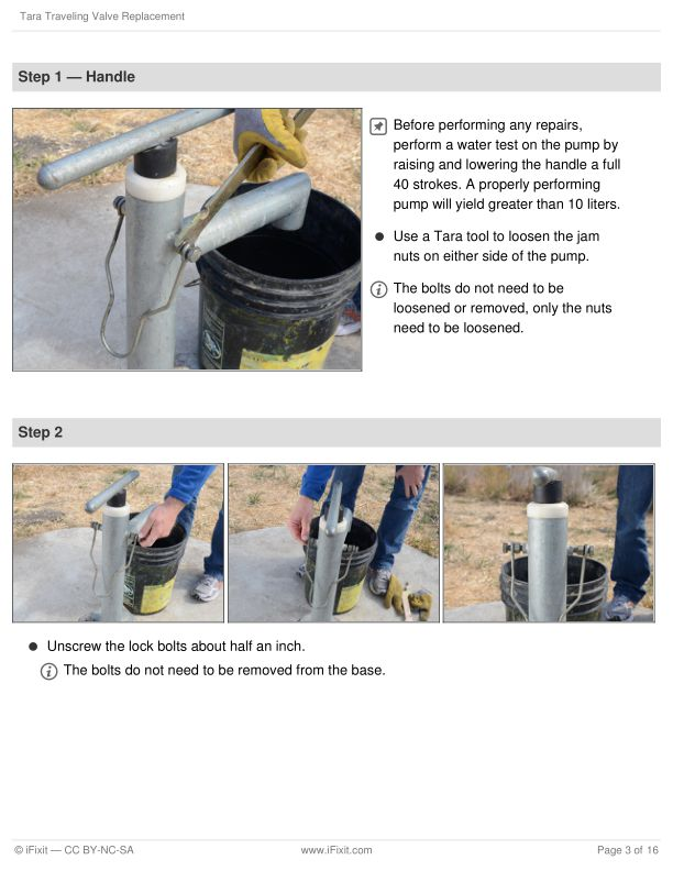 Step 1 — Handle   Page 1