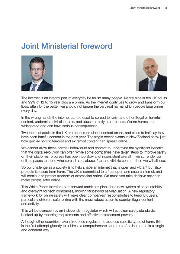 Joint Ministerial foreword | Page 2