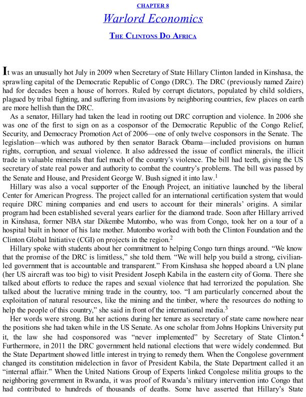 CHAPTER 8 Warlord Economics: The Clintons Do Africa | Page 8