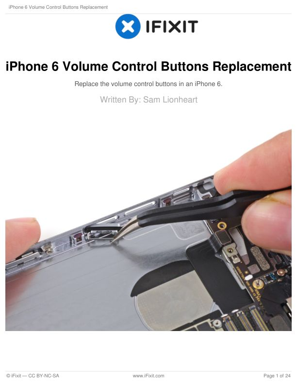 iPhone 6 Volume Control Buttons Replacement