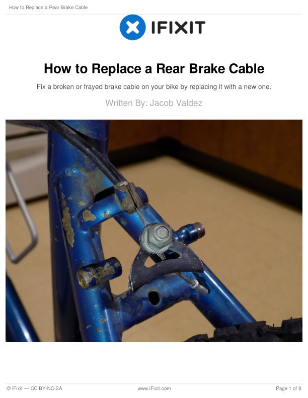 How to Replace a Rear Brake Cable