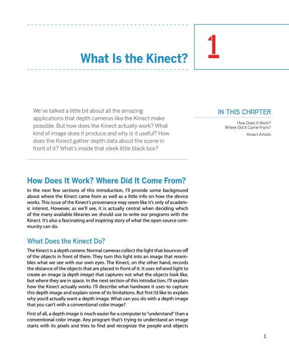 1.What Is the Kinect?   Page 1