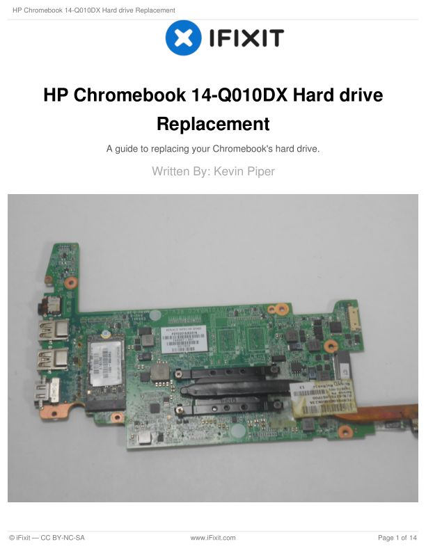 HP Chromebook 14-Q010DX Hard drive Replacement