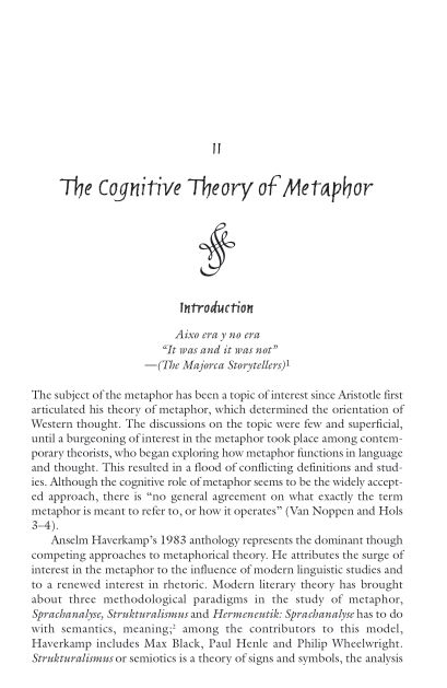 The Cognitive Theory of Metaphor   Page 2